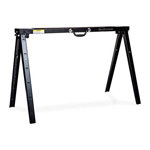 Eastwood Heavy Duty Height Adjustable Steel Or Metal Saw Horse and Jobsite Table with Legs Portable...