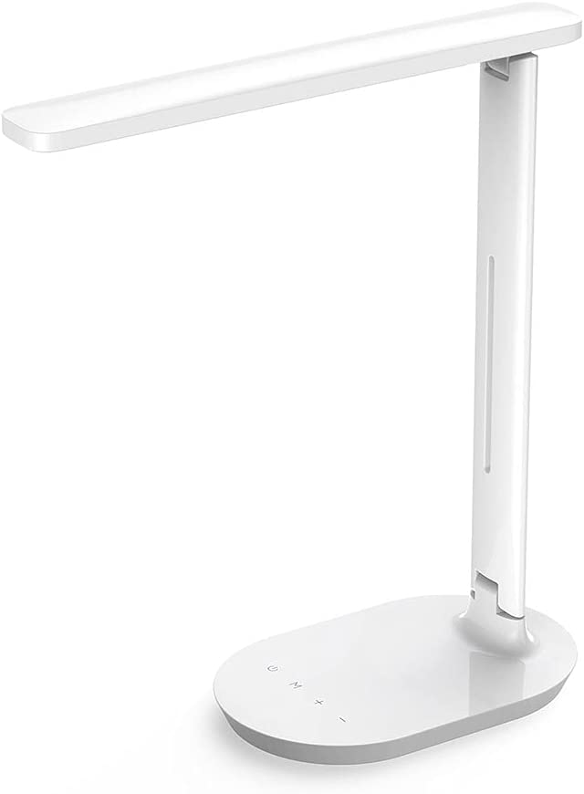 Lámpara LED de Escritorio, Lámpara de Mesa, Lámpara de Oficina Regulable con Control Táctil y 5 Modos de Iluminación