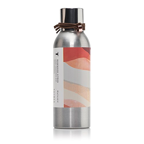 Thymes - Rosewood Citron Home Fragrance Mist - Citrus Grapefruit Rose Scented Room Spray - 3 oz