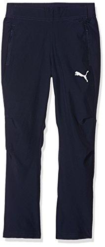 PUMA Unisex-Kinder Liga Sideline Woven Pants Jr Hose, Blau (Peacoat-Puma White), Gr. 152