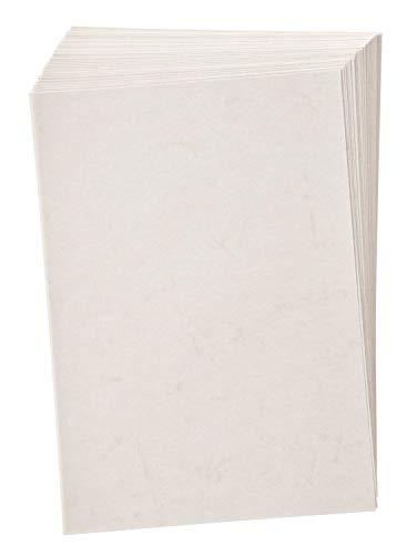 folia 950400 - Elefantenhaut, Urkundenpapier, 50 Blatt, 110 g/qm, DIN A4, weiß - elegantes Papier für Urkunden und Speisekarten
