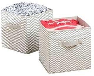 comprar comparacion mDesign Caja de almacenamiento - Cubo de almacenamiento Ideal para guardar varios artículos en la casa- Sistema de almacen...