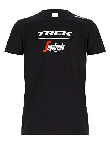 Santini Trek-Segafredo 2019, T-Shirt Unisex – Adulto, Nero, XL