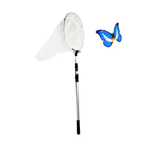 UKCOCO Pesca extensible mariposa mariposa libélula insectos neta, aleación de aluminio poste de mango telescópica red de aterrizaje alargar Tuck Net para niños adultos