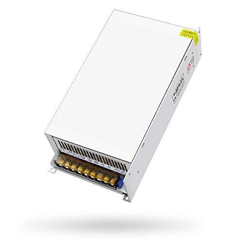SHNITPWR 12V DC Fuente de Alimentación 50A 600W Interruptor Regulado Transformador de Alimentación AC 110V 220V a DC 12 V 50Amp 48A...