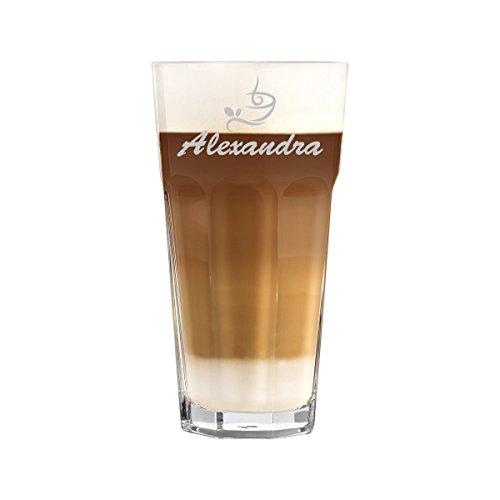 polar-effekt Latte Macchiato Glas 480ml Personalisiert - für Getränke wie Cappuccino, Kaffee-Latte und Co mit Gravur - Geschenk-Idee zum Geburtstag - Motiv Classic Coffee