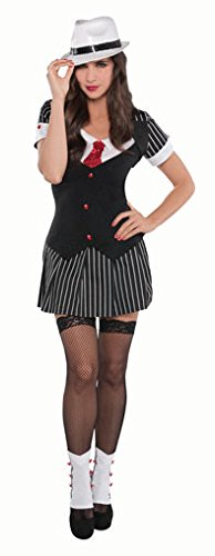 Christy's 996153 Adults Sexy Gangster Costume 10-12-1 Pc, Non-Solid Colour, Size 10-12
