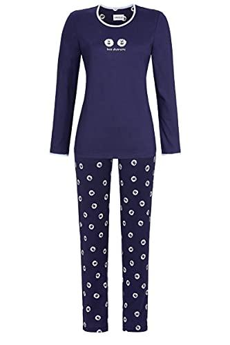 Ringella Damen Pyjama mit Motivdruck Night 48 1511220,Night, 48