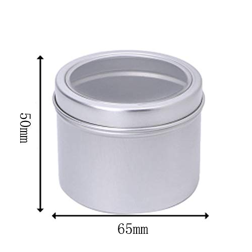 Fineday Aluminium Empty Cosmetic Pot Jar Tin Container Silver Box Screw Lid Craft, Housekeeping & Organizers, Products for Christmas Day (D)