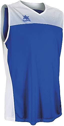 Luanvi Portland Camiseta Especializada de Baloncesto, Unisex Adulto, Azul/Blanco, 3XL