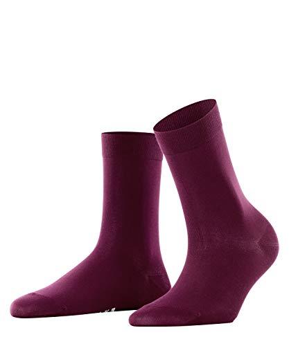 FALKE Cotton Touch W So Chaussettes, Blickdicht, Rouge (Barolo 8596), 35-38 (UK 2.5-5 Ι US 5-7.5) Femme