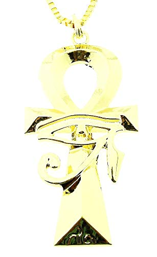 Ketting voor vrouwen - vrouw - sleutel - ankh - horus - oog - egyptisch - egypte - kerstmis - groot - goud - origineel cadeau idee