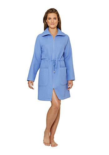 hajo Damen Waffelpique Kurzmantel Farbe: bleu Gr. L
