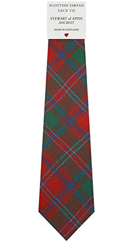 I Luv Ltd Cravate en Laine pour Homme Tissée et Fabriquée en Ecosse à Stewart of Appin Ancient Tartan