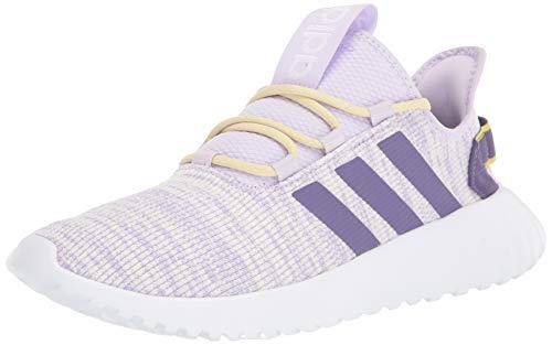 adidas Women's Kaptir X Running Shoe, Purple Tint/Tech Purple/Shock Yellow, 8 M US