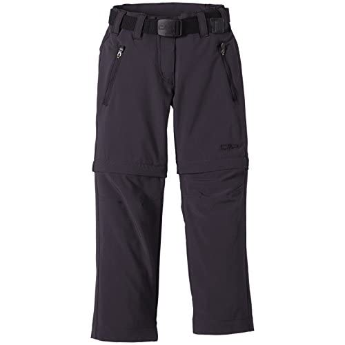 CMP Zip off 3T51445, Pantaloni Bambina, Grigio (Grey/Antracite/Black), 164 cm