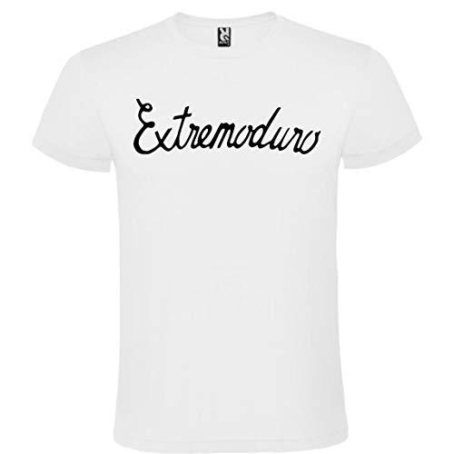 Camiseta con Logotipo de Extremoduro para Hombre Blanca 100% Algodón Tallas S M L XL XXL Mangas Cortas (M)