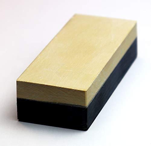 GELBER BELGISCHER BROCKEN original I Schleifstein für Messer & Werkzeug I Messer-Schärfer Größe 75 x 30 mm Körnung bis 8000 I Wetzstein für extra feinen Schliff - effektiv & höchst präzise