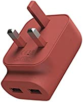 nolii Dual USB A Plug | Dual USB A charger 2.4A | Suitable for USB A cables for all iPhones, iPads & iPods, Samsung and More