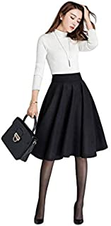 HERIJA White Color T Shirt and Black Pocket Skirt for Women and Girls (Large)