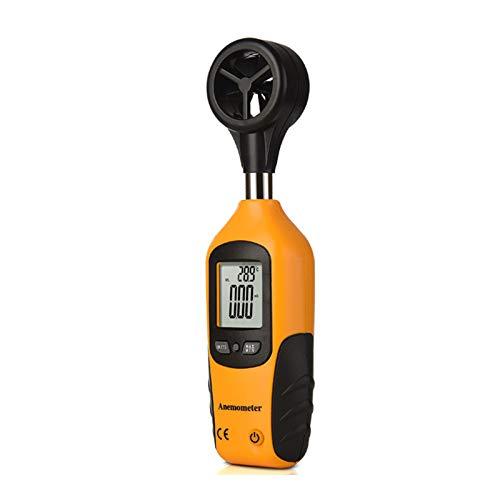 ZHWDD Anemometer, hochpräzises digitales Handwind-Temperatur- und Geschwindigkeits-Anemometer, Multifunktionsdisplay-Schnellmess-Anemometer, Messwerkzeuge