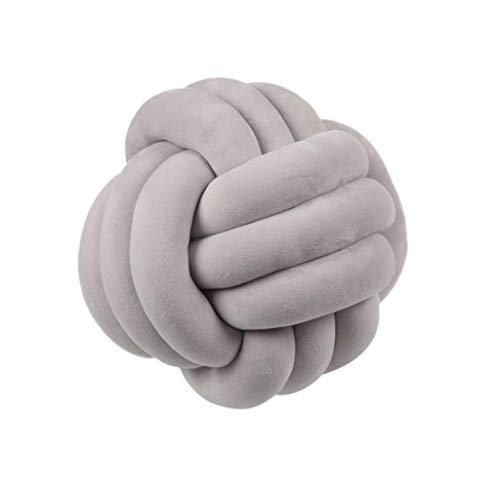 Cuscini per cuscini morbidi con nodo a palla Cuscino imbottito per letto Cuscino per decorazioni per la casa Cuscino decorativo con palla per divano da camera da letto 01