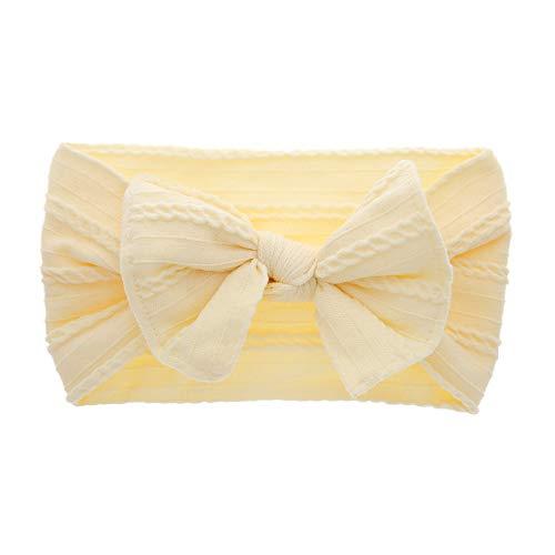 GUOYIHUA - Diadema de nailon suave para bebé, diseño de conejos, para orejas y dilataciones, para niños amarillo M