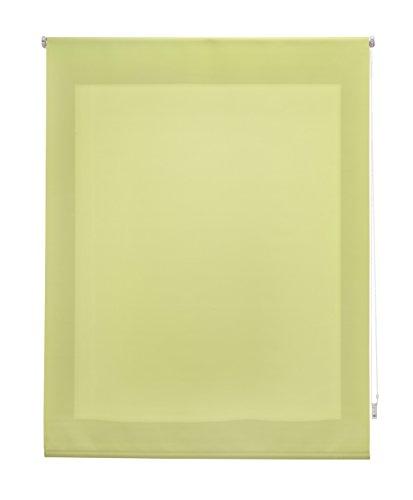 Uniestor Estor Enrollable Liso Traslúcido Tela Pistacho 120x175 cm