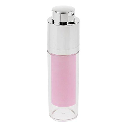 SM SunniMix Récipient Cosmétique 30ml De Cosmétiques De Lotions Liquide De Maquillage De Bouteille De Jet De Presse De Pompe à Vide - Rose