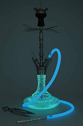 ARYF Shisha Wasserpfeife Gloria 4 Glow In The Dark mit Zubehör