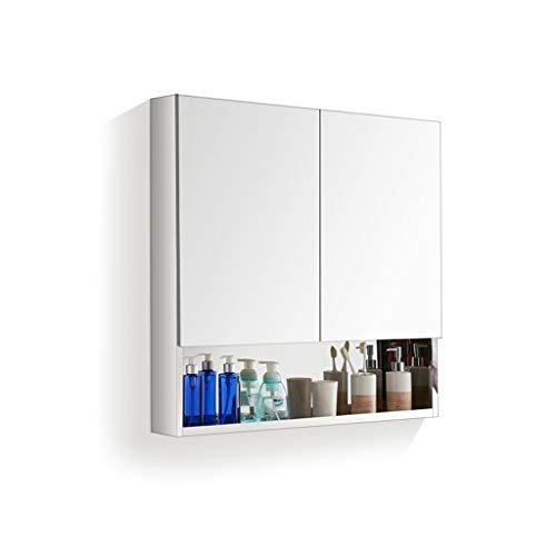 haozai roestvrij stalen badkamer muur spiegel medicijnkast-gespiegelde badkamer muur kabinet, opbergkast combinaties met spiegel deur 1