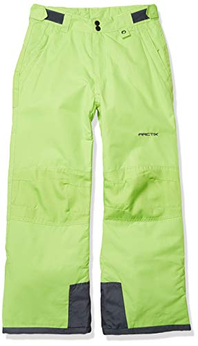 Arctix Kids Snow Pants with Reinforced Knees and Seat, Lime Green, Small