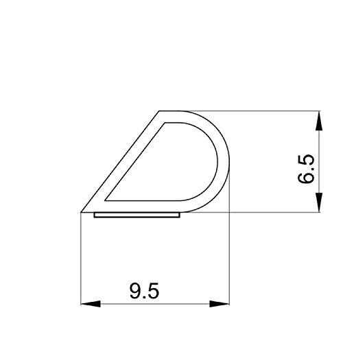 DIWARO® Selbstklebende - Dichtung SK008 | braun | 5 Meter | geeignet als Fensterdichtung wie auch als Türdichtung. Mit starken und sehr haltbaren Klebeboden.