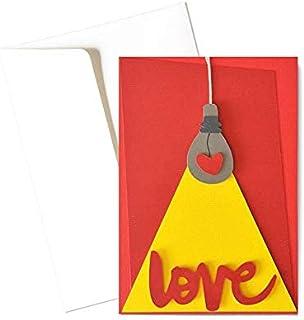 Love - illumina il mio cuore - festa degli innamorati - biglietto d'auguri (formato 15 x 10,5 cm) - vuoto all'interno, ide...