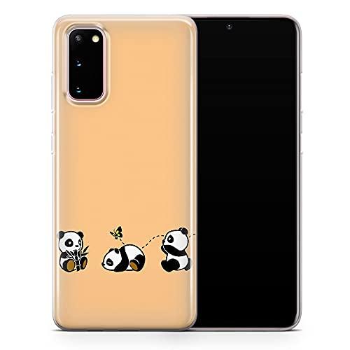 Per Samsung Galaxy S20 Ultra - Carino Panda Bear Custodia Telefono, Kawaii Yoga Roll Divertente Animale Cover - Sottile Antiurto Sottile Morbido TPU Silicone - Design 4 - A117