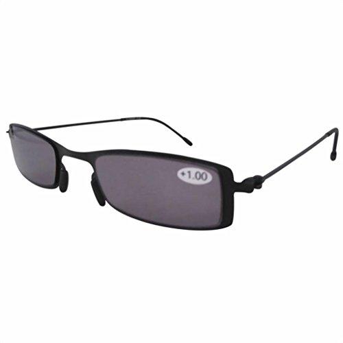 Eyekepper barato sol lectores gris teñido gafas de lectura con funda