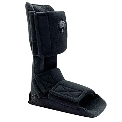 Soporte Protector De Tobillo Ortesis Botas para Caminar Inflable Cómodo Ayuda A Aliviar El Dolor Velcro Fijo No Camina para Fractura Lesión del Ligamento Negro,S