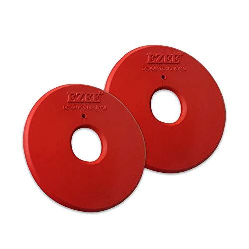 Tigerbox Par de anillos de goma roja para mejillas