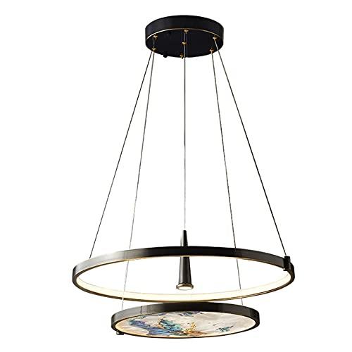 Creativo nuovo lampadario da soggiorno in stile cinese, lampadario di lusso moderno e semplice, camera da letto della sala da pranzo, lampade di lusso a LED in rame pieno, lampadario zen in stile cine