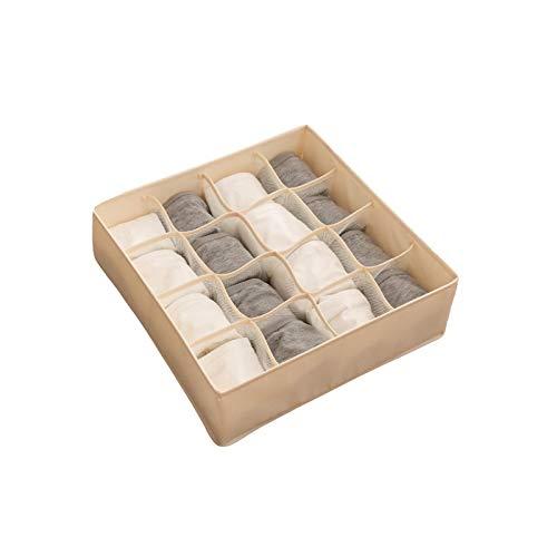 Caja de almacenamiento de ropa interior, caja de almacenamiento de ropa interior plegable para el hogar organizador de calcetines separados divisores de almacenamiento A-2