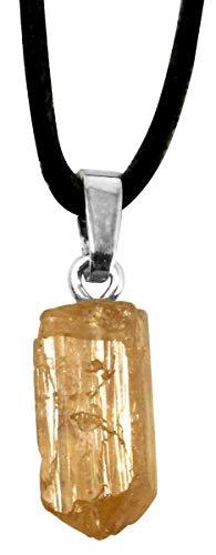 Goldtopas Anhänger, Rohstein, Topas gold, 1,5 bis 2 cm, Edelstein Anhänger gelb gold