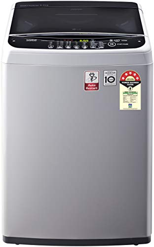 LG 6.5 Kg 5 Star Smart Inverter Fully-Automatic Top Loading Washing Machine (T65SNSF1Z, Middle Free Silver, TurboDrum)