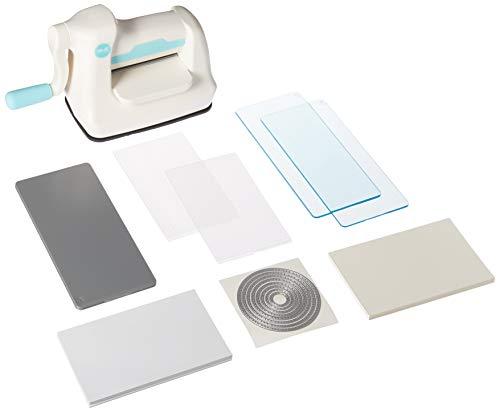 We R Memory Keepers 063356616290 Tool Mini Evolution Starter Kit-Machine Buffer Cutting Plate Embossing (64 peças), branco, azul