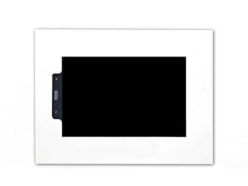 TabLines TWE049QW Wandeinbau für Samsung Galaxy Tab A, 26 cm (10,1 Zoll) im Querformat mit Homebutton weiß