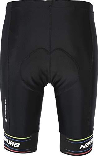 Nakamura Herren Fahrrad-Hose Degna Ii, Black/Print, L