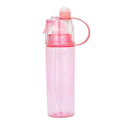 NEEKY Trinkflasche Sportflasche Fahrrad Outdoor Fitness Wasserflaschen - Radfahren Sprühnebel Wasser Strand-Flasche Auslaufsicherer Trinkbecher 600ml