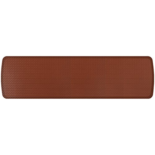 "GelPro Elite Premier Gel & Foam Anti-Fatigue Kitchen Floor Comfort Mat, 20"" x 72"", Basketweave Chestnut"