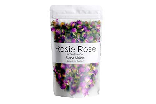 Rosie Rose - Getrocknete Rosenblüten aus natürlichem Anbau - Essblüten - Teeblüten -Rosenblütentee - Damaszener Rosen 75g
