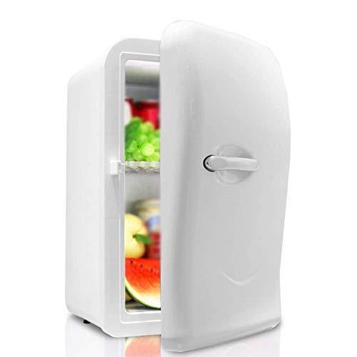 YYhkeby Mini Frigorifero 17L con Lucchetto Studente dormitorio Mini frigo per Camera da Letto tranquilla Mini frigo Portatile per Auto Jialele (Color : White)