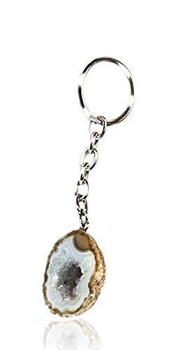 Porte-clés – Agate Geode – des couleurs différentes | Naturprodukt | unique
